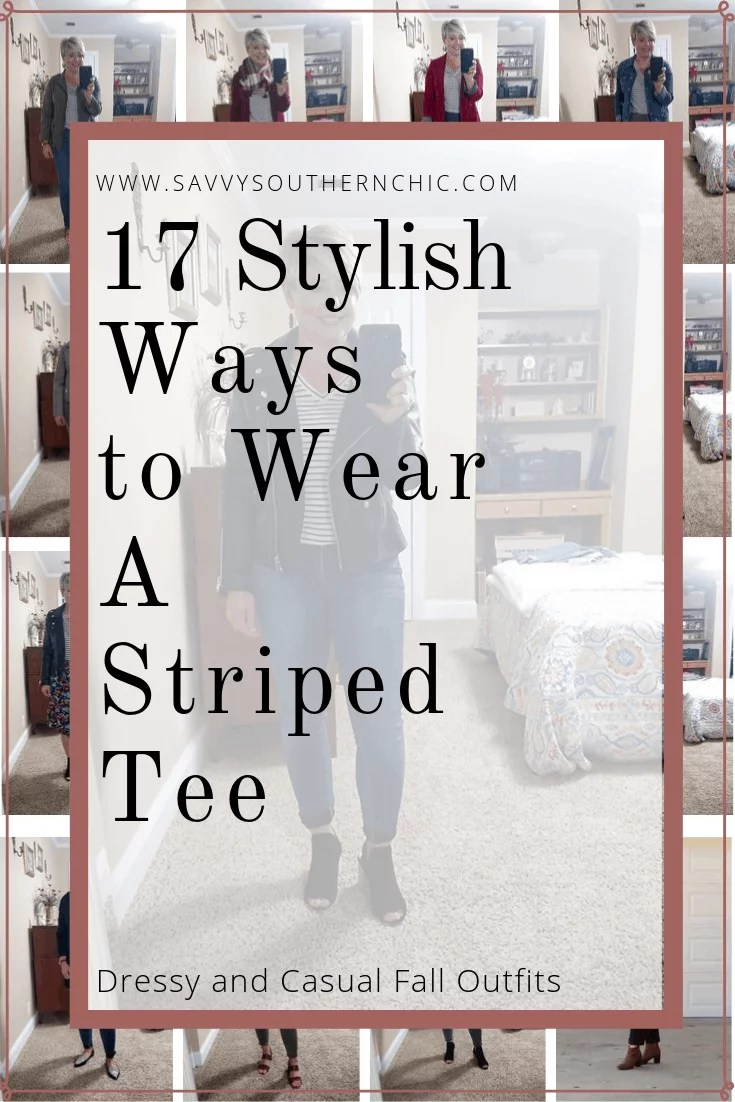 17 ways to wear a striped tee
