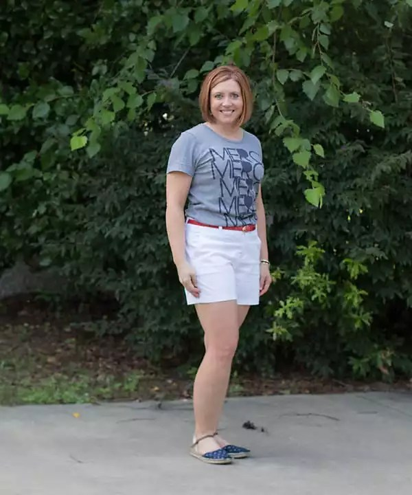 graphic tee with shorts