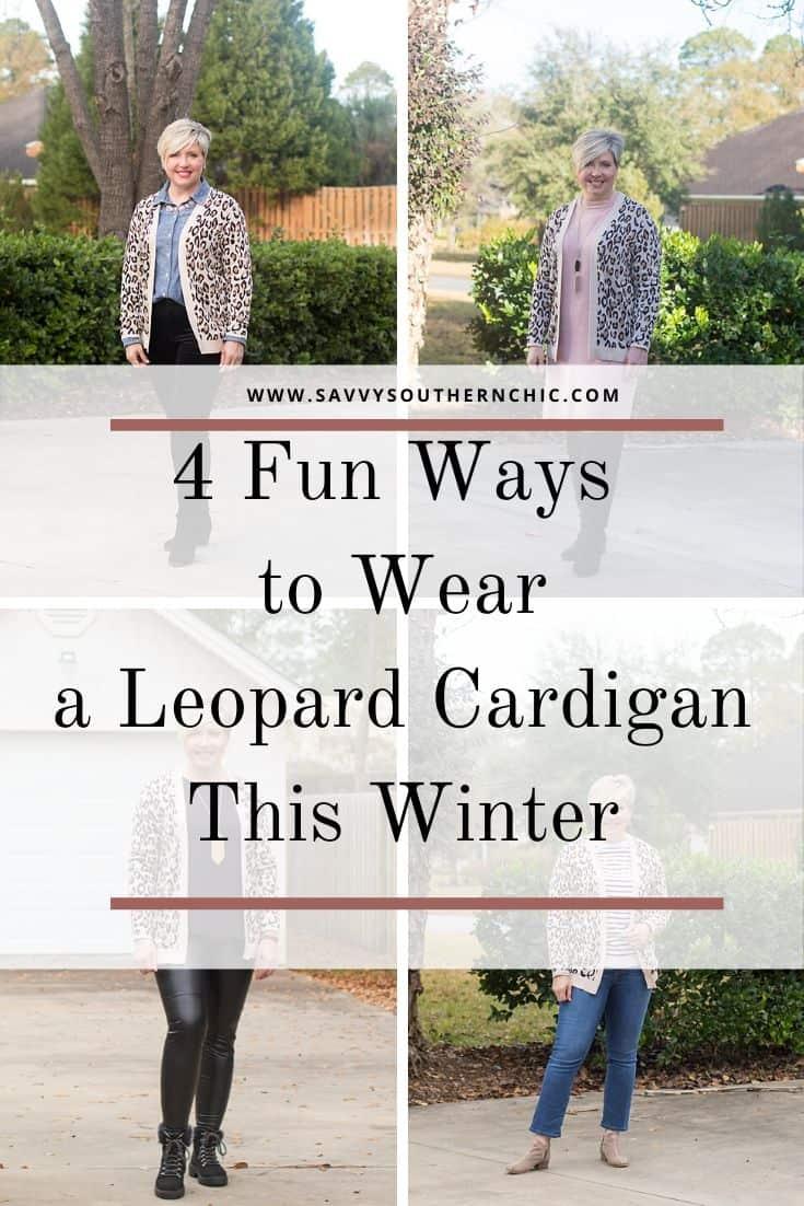 4 fun ways to wear a leopard print cardigan this winter
