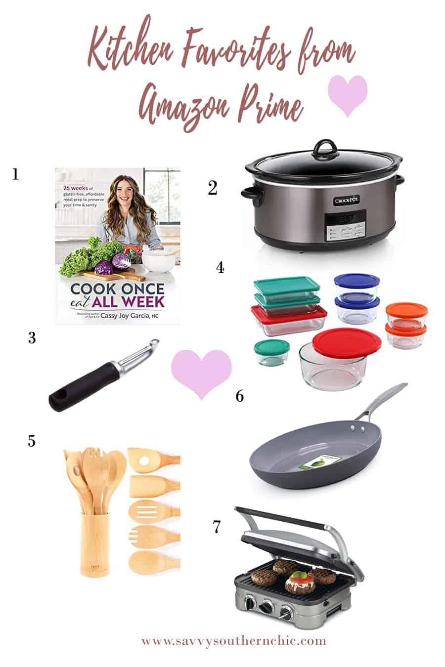 kitchen favorites from Amazon prime