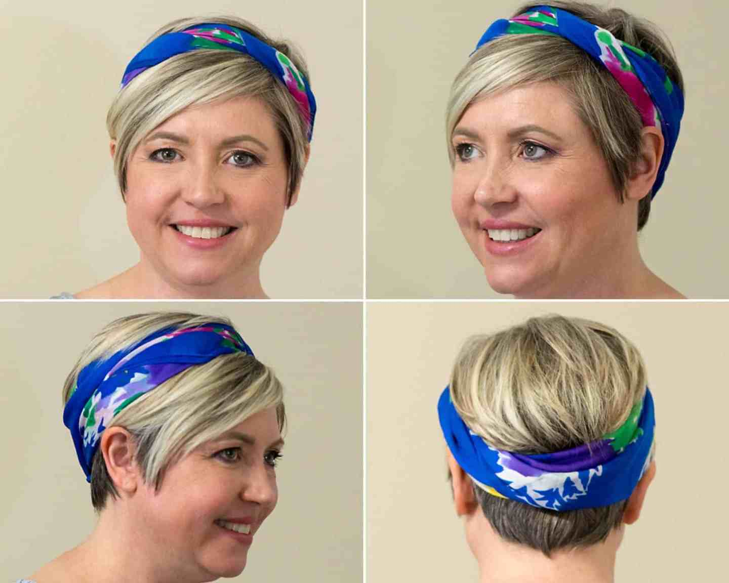 scarf as a headband, scarf in hair