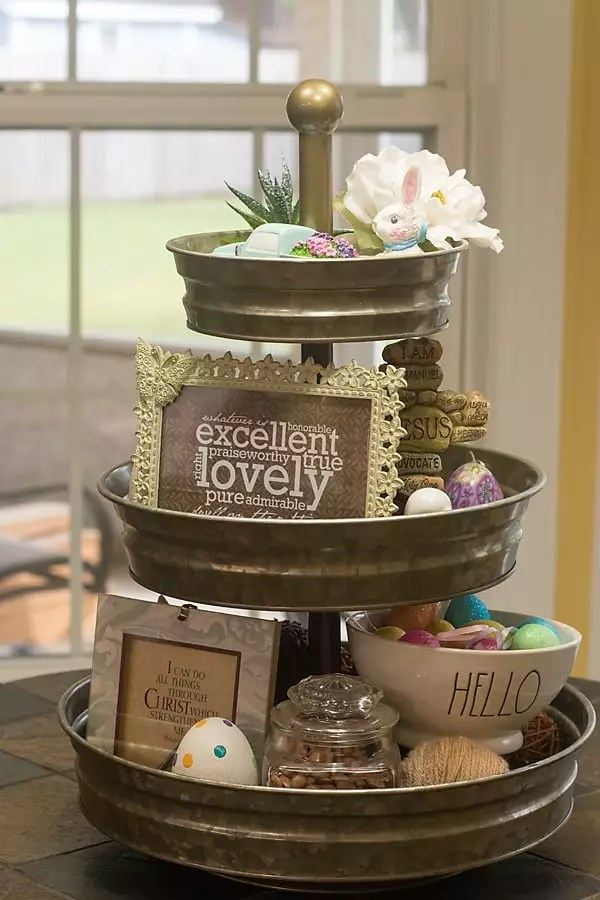Easter tray tiered tray