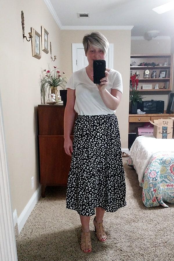 leopard print summer skirt