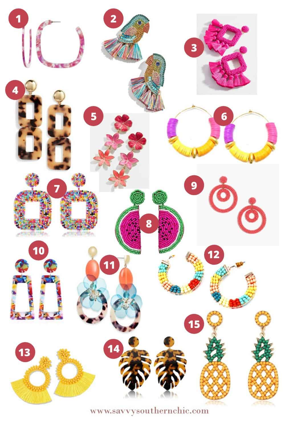 15 fun statement earrings for summer