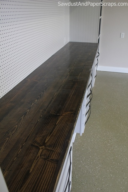 DIY cheap wood countertops