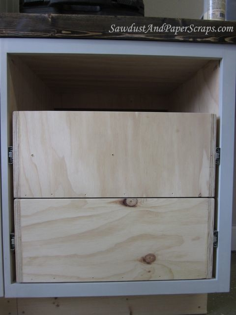 Installing Cabinet Drawers With Glides Sawdust Girl 174