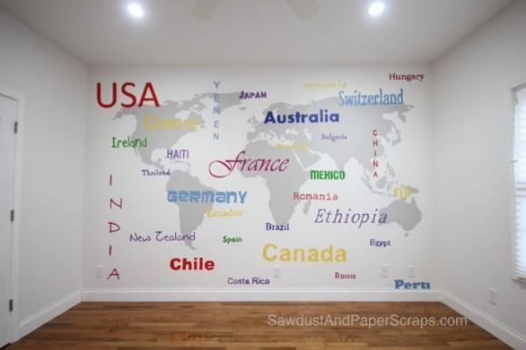 World Map Subway Art