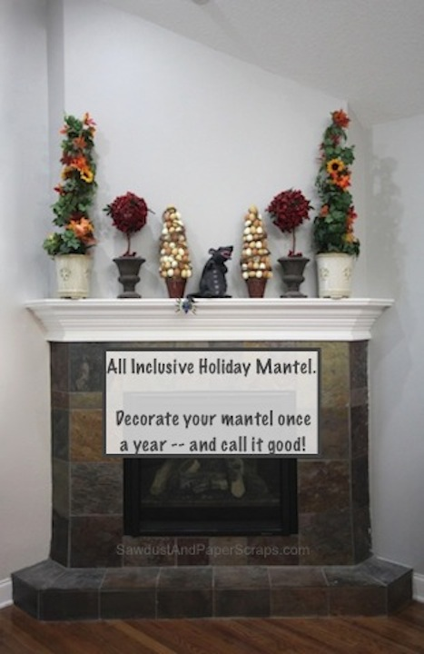 Halloween, Fall, Christmas, Easter, Comical Decorating, Mantel
