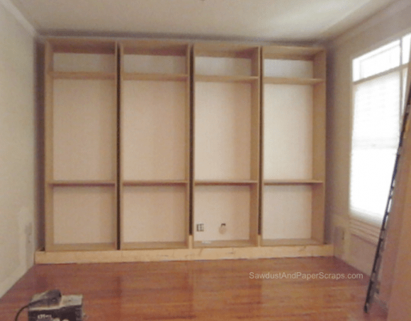 bookshelf plans builtin