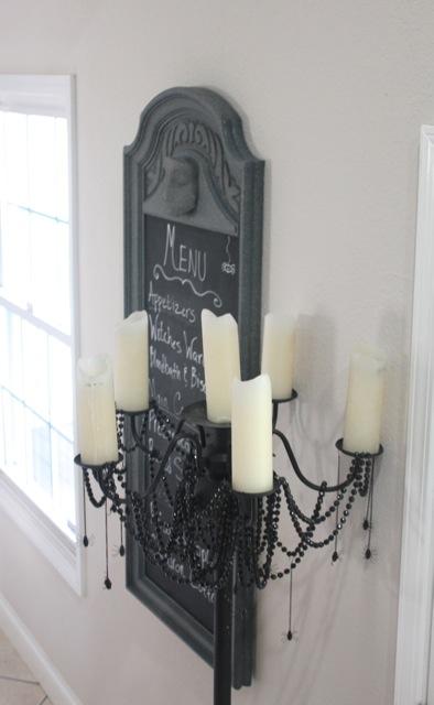 Ghostly Halloween Menu Chalkboard