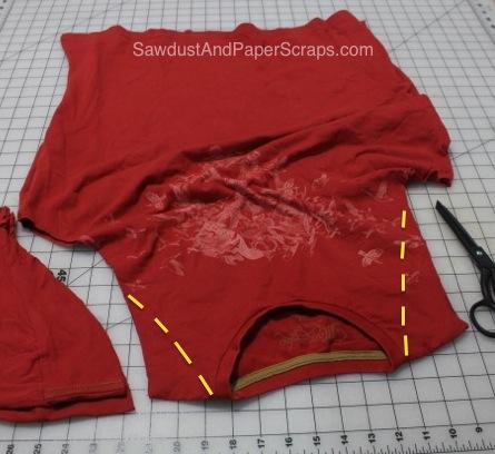 No Sew T-Shirt Apron Tutorial