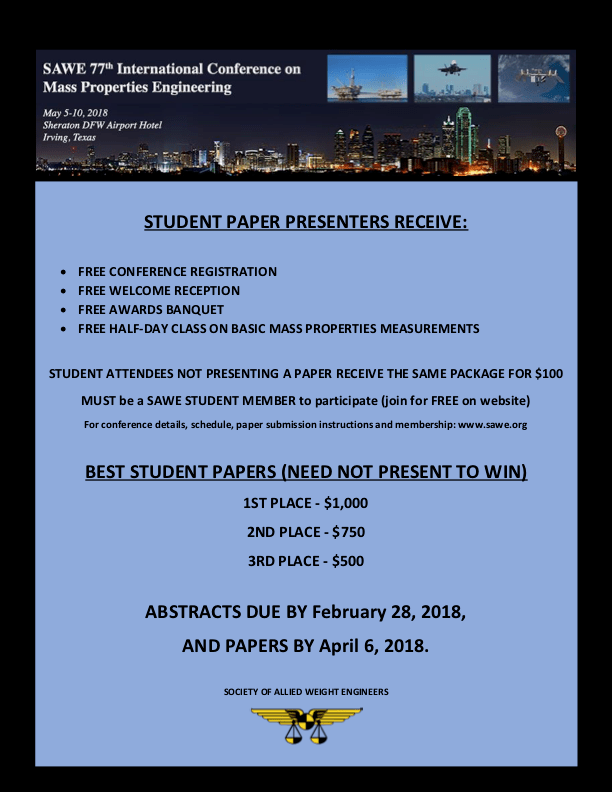 2018 SAWE International Student Flyer