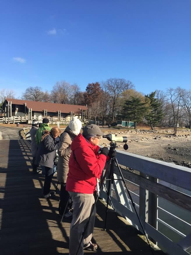 Saw Mill River Audubon birders in Nebraska. Photo: Anne Swaim.