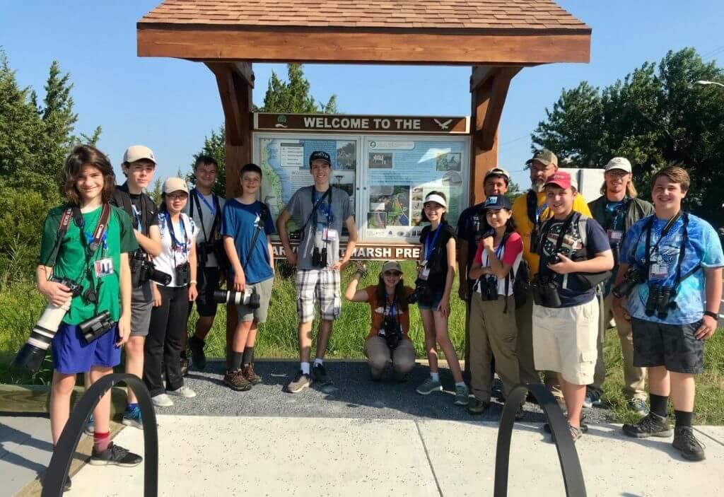 Camp Avocet youth birding camp, American Birding Association. Photo: ABA.