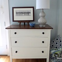 White and java dresser