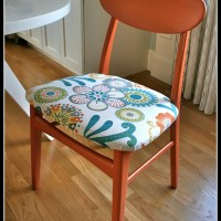 Persimmon Mid Century Chairs