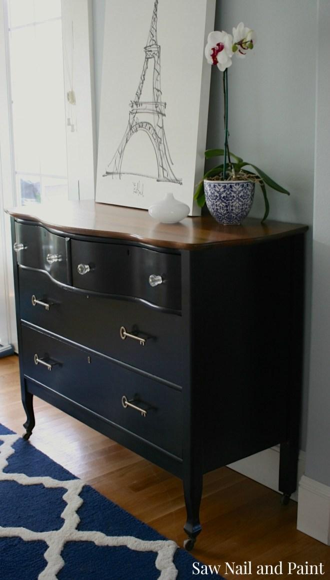 Serpentine Dresser With Vintage Inspired Key Pulls Saw