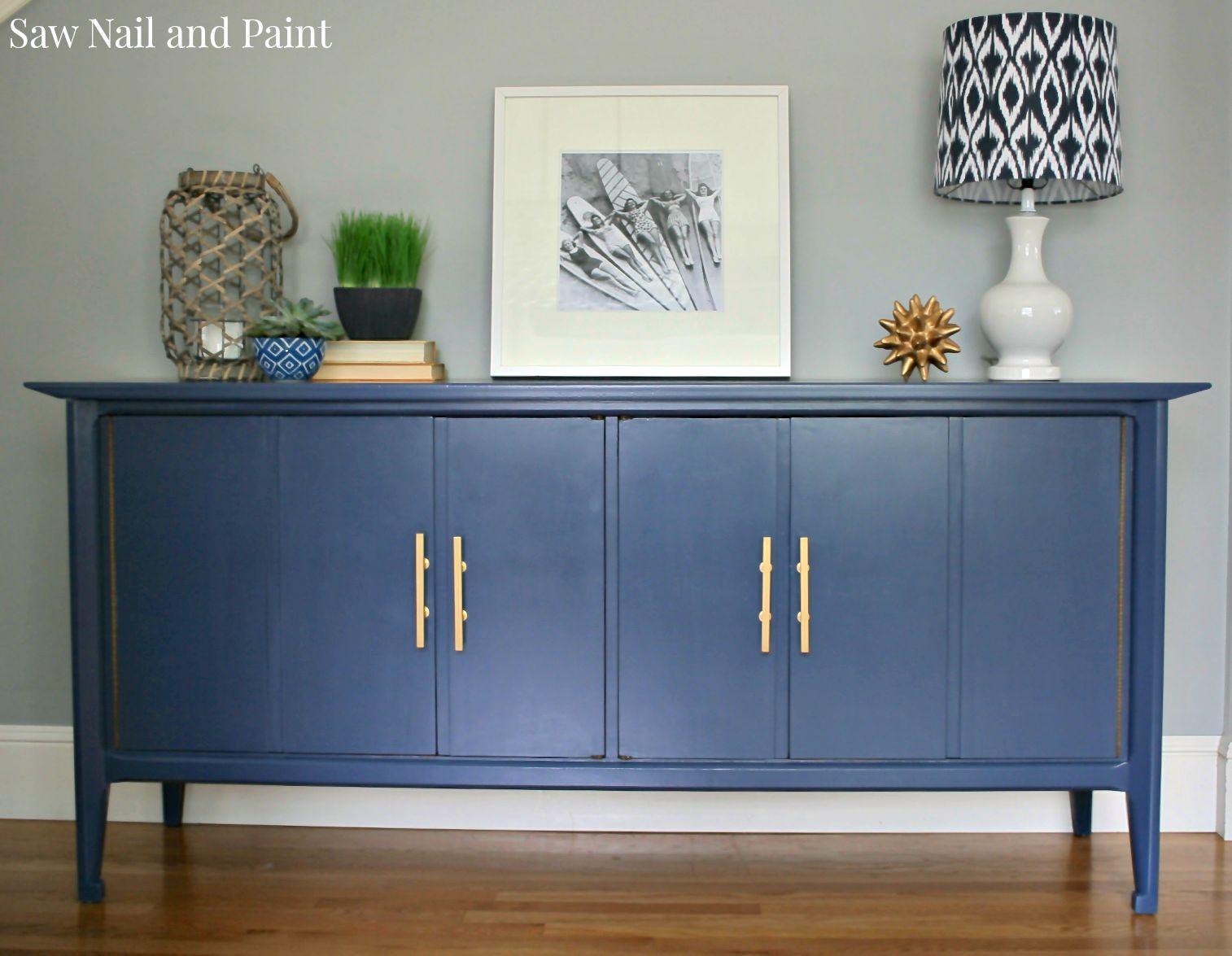 Charming Indigo Blue Buffet Front