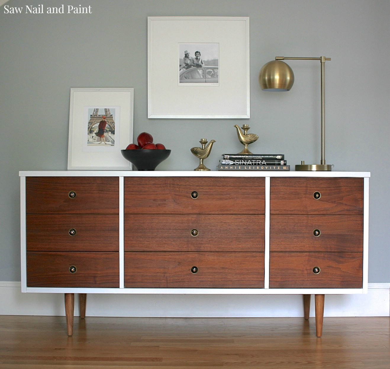 Awe Inspiring Bassett Mid Century Dresser Makeover Saw Nail And Paint Home Remodeling Inspirations Genioncuboardxyz