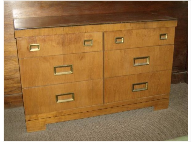 Top Jade Green Mid Century Dresser - Saw Nail and Paint HY94