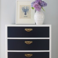 Broyhill Premier Dresser in Navy and White