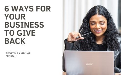6 ways for your business to give back