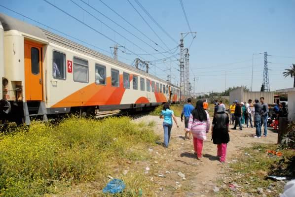 صورة قطار يصدم طفلا ويفصل رأسه عن جسده ضواحي سطات