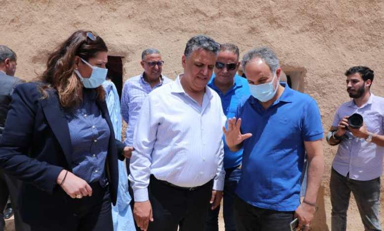 صورة كودار رئيس مجلس جهة مراكش اسفي يعزي في وفاة والدة  الامين العام لحزب البام عبد اللطيف وهبي