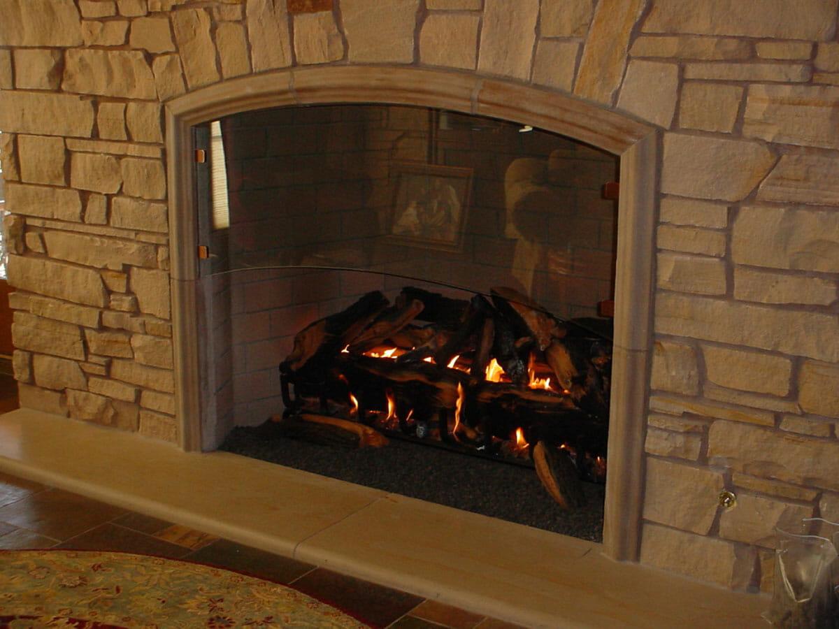 Custom Glass Fireplaces