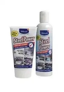 Steel Power cooktop, sink cleaner