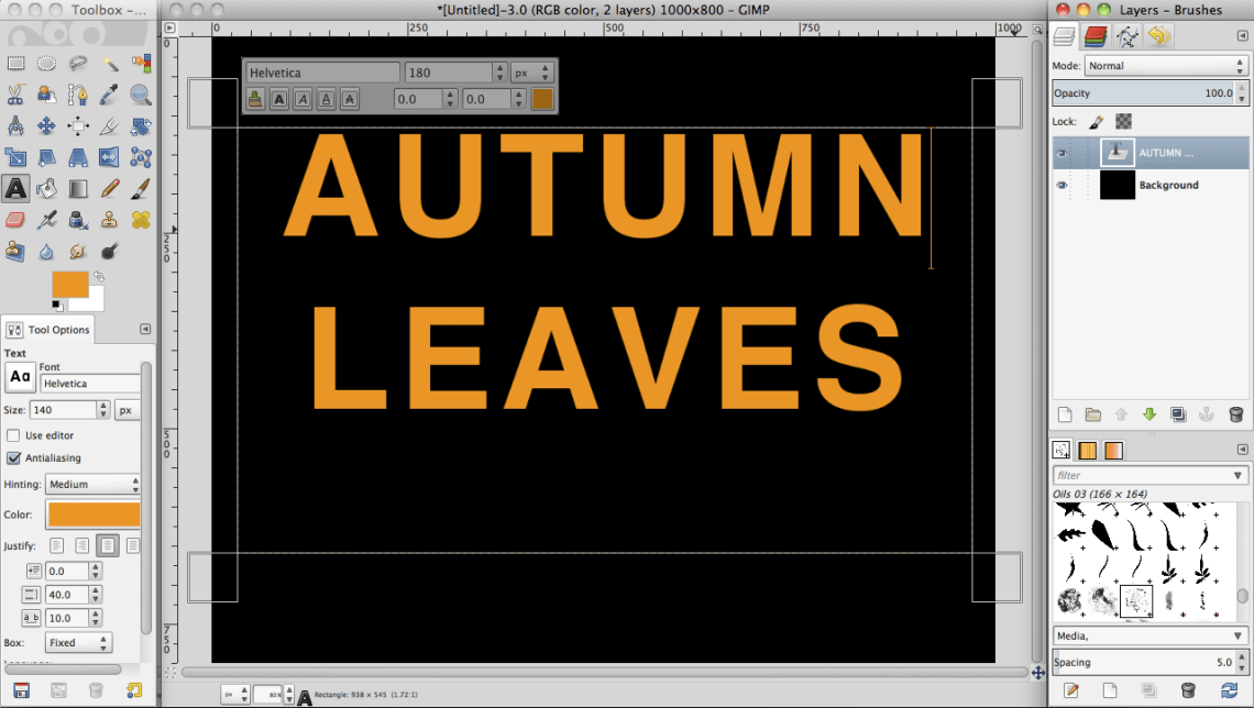 Download Tutorial: Create a leaves text effect in GIMP » SAXOPRINT ...