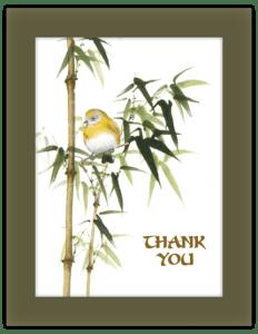 CN 27a - bird bamboo