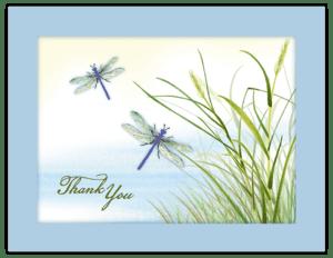 FL 24a - dragonfly grass 'thank you'