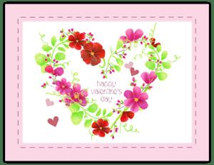 FL 79 - floral heart wreath 'valentine'
