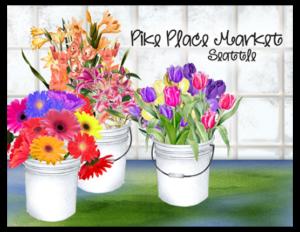 SP 14b - pike place flower buckets