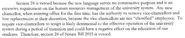 Fwd- Governor Veto of Section to Senate Bill No  2015 - rob@sayanythingblog.com - SayAnythingBlog.com Mail