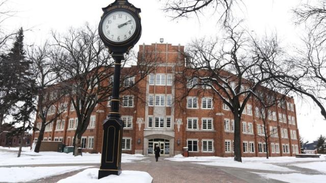 Twamley hall University of North Dakota. Jesse Trelstad/ Grand Forks Herald  Jonah Mostler
