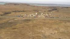 A protest camp set up on private land in the path of the Dakota Access Pipeline