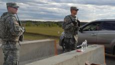 Members of the North Dakota National Guard assist with an information checkpoint on Thursday, Sept. 8, 2016, south of Mandan, N.D., on State Highway 1806 north of the Dakota Access Pipeline protest site. Amy Dalrymple/Forum News Service