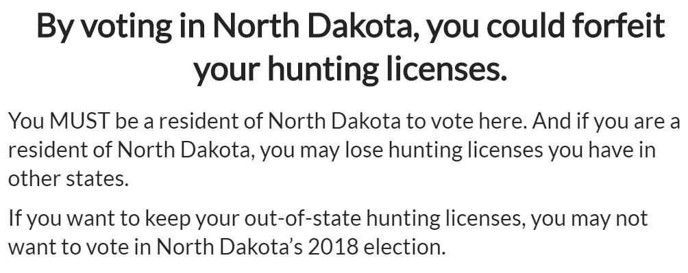 north dakota democrats promote message telling hunters they may lose