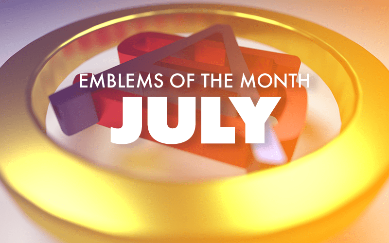 July – Emblems of the Month
