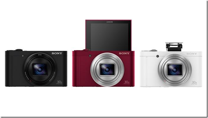 圖1:Sony 發表全球最輕巧旅遊自拍機Cyber-shot™【DSC-WX500】,輕巧簡便兼具專業攝影品質,輕鬆一手掌握美麗風景與人像!