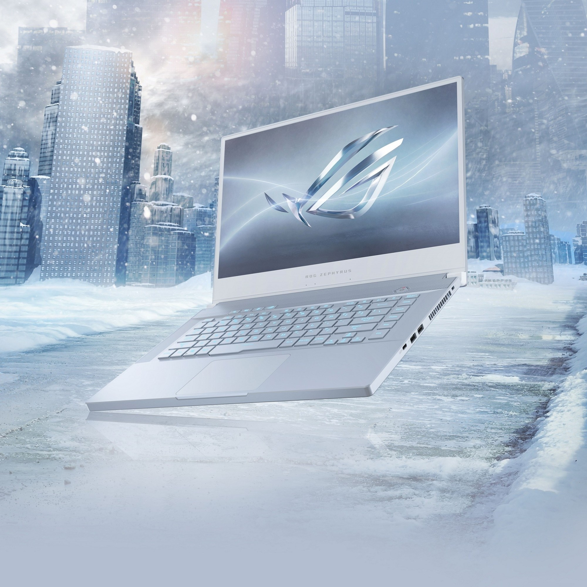ROG玩家共和國旗下三款電競筆電推出「冰河藍」潮流新色,搭配精緻亮眼的髮絲紋設計,為電競筆電換上全新面貌。.jpg