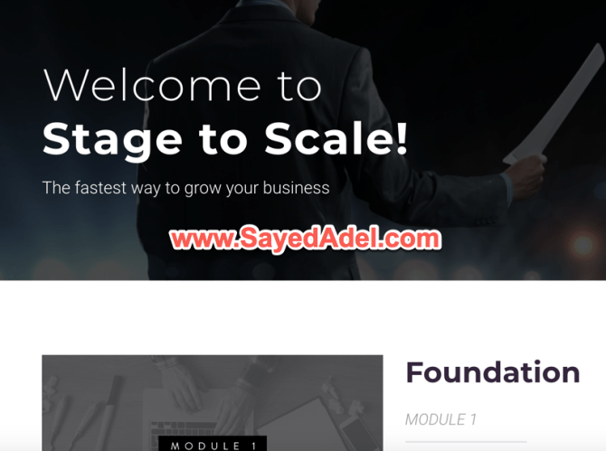 Stage To Scale Members Dashboard