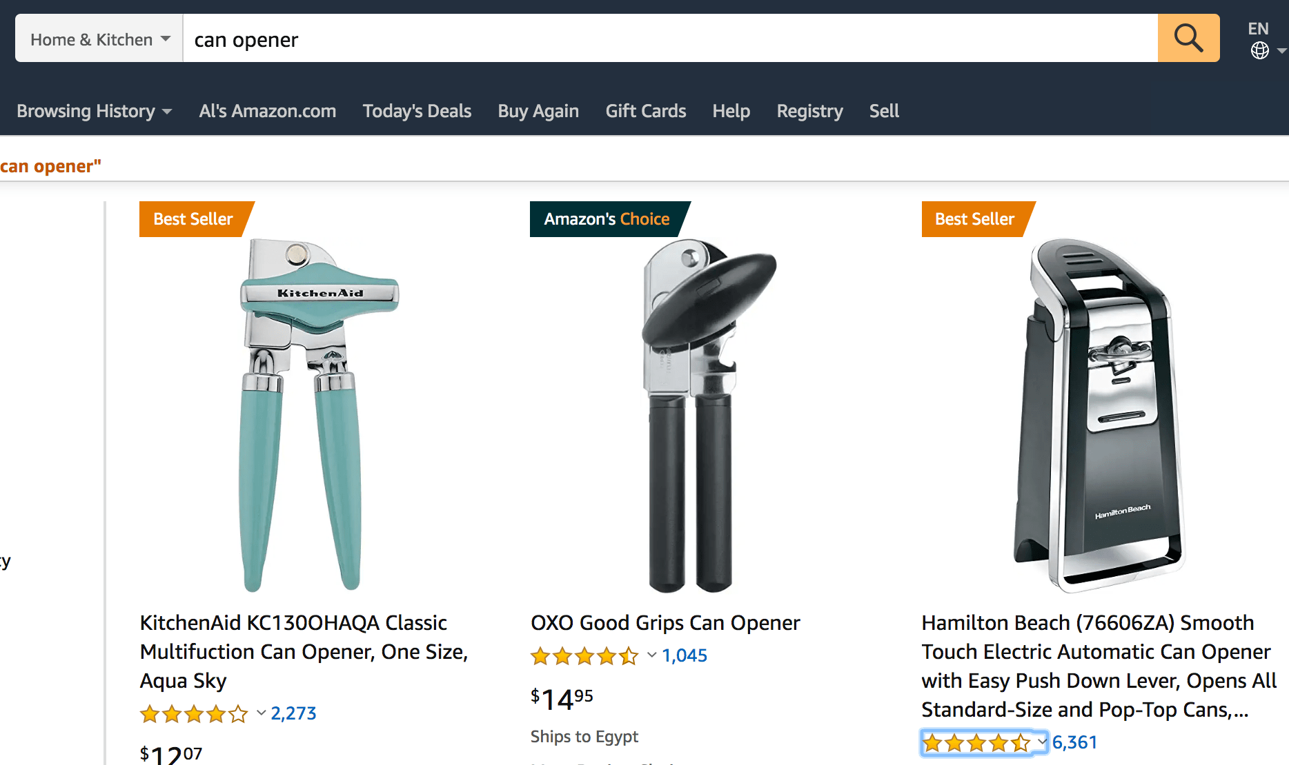 Amazon product finder