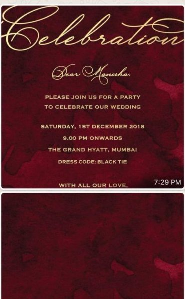 DeepVeer invitation card