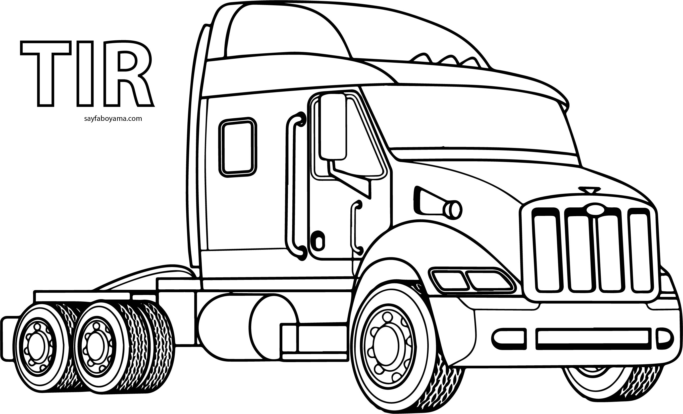 Old Ford Truck Coloring Pages