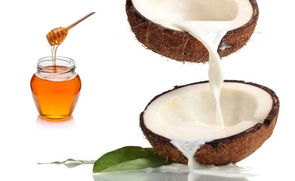 ماسك زيت جوز الهند والعسل