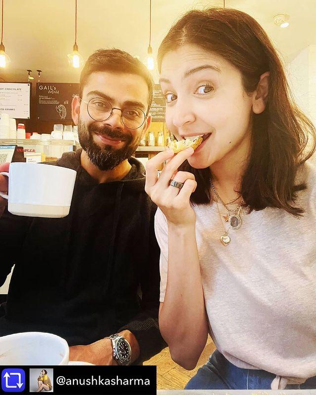أنوشكا شارما وزوجها فيرات كوهلي- الصورة من حساب فيرات كوهلي على إنستغرام