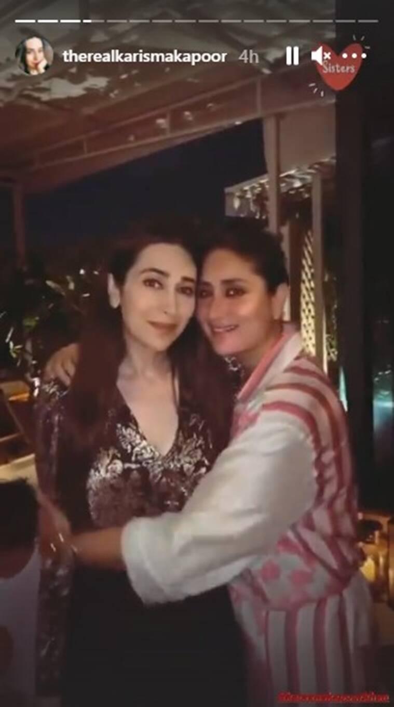 كاريشما كابور وأختها كارينا كابور- الصورة من موقع     من ستوري كارينا كابور على إنستغرامIndian Express